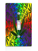 Weed Leaves Light Switch Plate