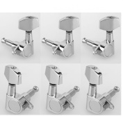 Musiclily 3+3 Epi Style Guitar Sealed Tuners Tuning Keys Pegs Machine Head Set for Gibson Epiphone Guitar, Big Button Chrome
