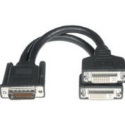 23cm One LFH-59 (DMS-59) Male to Two DVI-I. Female Cable