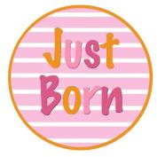 Mumsy Goose Baby Girl Just Born Sticker