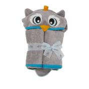 140cm x 80cm Owl Velour Toddler Towel, Grey, Frenchie Mini Couture