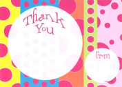 Kids Stripes & Dots Thank You Cards, Fill-In Style, 8 Pack