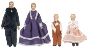 1:12 Scale 4 Pc Porcelain Doll Family #06821
