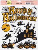 Happy Halloween Window Clings Classic Orange and Black