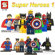 Marvel & Dc Sy180 Super Heroes Action Figures the Avengers Ironman Spiderman Superman Batman Captain America Hulk Thor Wolverine