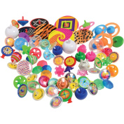 U.S. Toy Spin Top Novelty Toys 80 Pc. Assortment