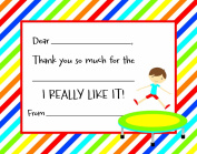 Jumping Trampoline Boy Kids Fill-in Birthday Thank You Cards