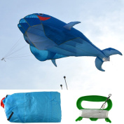 AGPtek 3D Huge Dolphin Kite 200cm x 70cm with 30m String