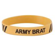 Army Silicone Wristband - Yellow W01S43F