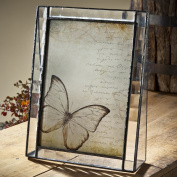 J Devlin 5x7 Vertical Glass Photo Frame- Cross Reed