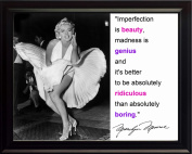 Marilyn Monroe Beauty Is Imperfection 8x10 Framed Photo