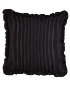 Ralph Lauren Seville Black White Pinstripe EURO Pillow Sham
