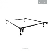 STRUCTURES Twin/Full Adjustable Metal Bed Frame with In-line Glides