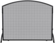 UniFlame S-1036 Single Panel Wrought Iron Arch Top Screen, Medium