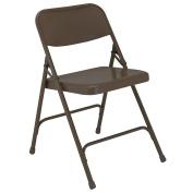 National Public Seating Folding Chair - 18-1/4 X20-0.6cm X 70cm - Single U-Brace - Brown - Brown - Lot of 4