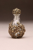 Timeless Traditions Brass Victorian Clear Glass Tear Bottle 5.1cm