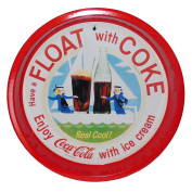 Float with Coca Cola Round Metal Serving Tray