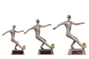 Abstract Copper soccer Figurine