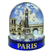 Souvenirs of France - Luxury Paris Snow Globe in a Gift Case - Blue