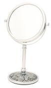 Danielle Enterprises 5X Magnification Vanity Mirror, Crackle Chrome