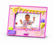 Russ Berrie 1st Birthday 10cm x 15cm Photo Frame, Pink