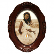 Dennis Daniels Mini Photo Frame 6.4cm x 8.9cm Dark Walnut Fancy Oval Picture Frame-Wall Hanging or Table Top