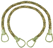 Pair of Elegant Olive Green, Champagne Curtain & Drapery Rope Tiebacks, 46cm Long, Approx. 1.3cm Thick, Style# BRTBM Colour# WINTER MEADOW - 6939