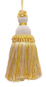 Decorative 13cm Key Tassel, Ivory, Yellow Gold Imperial II Collecion Style# IKTJ Colour