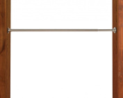 Versailles Home Fashions Duo Indoor/Outdoor Stainless Steel Tension Rod, Brushed Nickel, 66 x 120