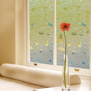 Bloss Glass Film Stickers Abstract Design 3D Static Cling UV Anti Privacy Decal Glass Window Vinyl Film
