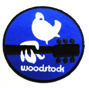 Woodstock Music Festival Hippie Peace Biker Clothing Vest Polo Jacket Shirt Embroidered Iron on Patch