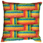 iscream / Classic Candy Airheads Xtremes Square Fleece-Backed Microbead Pillow
