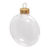 66mm Glass Disc Ornaments - Pack of 6