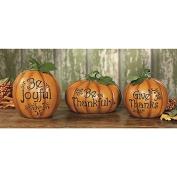Carved Thanksgiving Pumpkin Set - Decorative Accessories