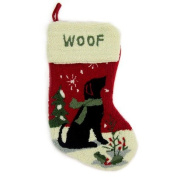 Glitzhome Hooked Stocking, Dog