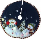 Christmas Concepts Ltd 120cm snowman Tree Skirt W/ Colour Changing Led Light