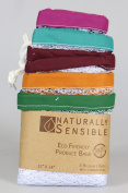 Eco Friendly See Through Washable and Reusable Produce Bags - Soft Premium Lightweight Nylon Mesh Large - 30cm X 36cm - Set of 5 (Red, Yellow, Green, Blue, Purple) | By Naturally ConsciousTM