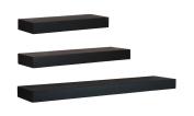 nexxt Maine Wall Ledges (Set of 3), 30cm /41cm /60cm , Black