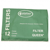 CONE, FILTER QUEEN 12PK W/2 DISC FILTERS PAPER BAG