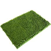 Kingfansion Soft Shaggy Non Slip Absorbent Bath Mat Bathroom Shower Rugs Carpet Map