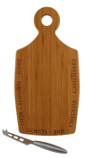 Totally Bamboo Varietal Cheese Cutting and Serving Board with Cheese Knife