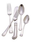 Colonial Williamsburg Royal Shell Stainless Steel Flatware 5 Piece Place Setting