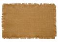 Burlap Natural Cotton Fringed Placemats (Set of 4) 30cm x 46cm each