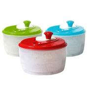 Heavy-Duty Salad Spinner Easy Spin Salad Tosser Vegetable Dryer, Random Colour
