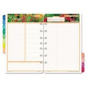 DayTimer Garden Path Daily Planner Refill 2015, 14cm x 22cm Page Size