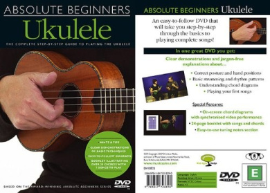 Music Sales Absolute Beginners: Ukulele (DVD) Guide and Tutorial