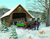 Lang Sleigh Ride Boxed Christmas Card by Persis Clayton Weirs, 5.375 x 6.875, 18 Cards and 19 Envelopes