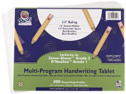 School Specialty Handwriting Paper - 1/2 Rule, 1/4 Dotted, 1/4 Skip - 27cm x 20cm - 500 Sheets