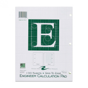 Roaring Spring Engineering Pad, 22cm x 28cm , Green, 100 Sheets, Grid-to-Edge
