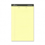 Ampad Perforated Pads, Letter Size, Legal Ruling, Canary Yellow, 50 Sheets per Pad, 12 per Pack